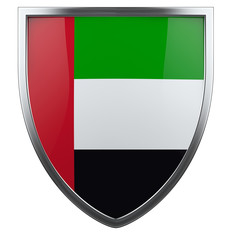 UAE flag shield