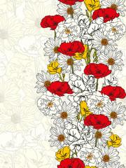 Elegant hand drawn floral Card