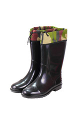 Hunter's black rubber boots