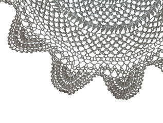 crochet doily isolated on white