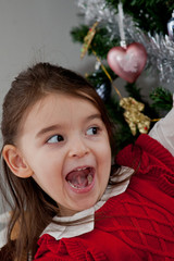 Christmas time: the joy fo the children