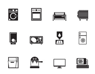 Silhouette Home electronics and equipment icons