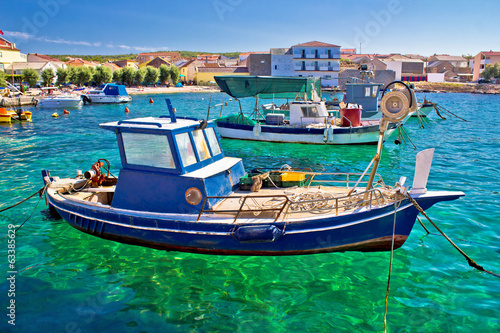 Fishing boat on turquoise sea