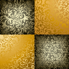 Collection of Elegant stylish abstract floral wallpapers.