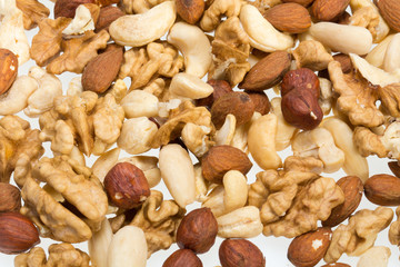 background of mixed nuts