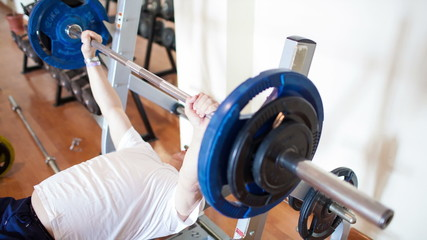 Exercising with weight lifting