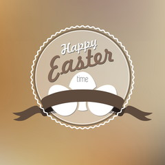 Happy Easter card illustration, Typographical Background
