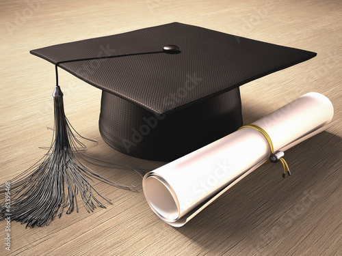 Graduation Day. Clipping path included.