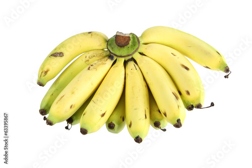 ripe banana isolated on white background.