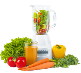 Blender with fresh vegetable
