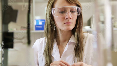 Woman scientist in the lab