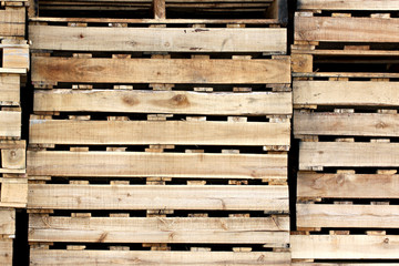 Wooden texture of pallets.