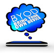 BYOD Smart Cell Phone Thought Cloud Bring Your Own Device
