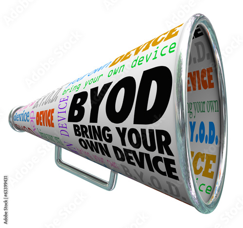 BYOD Bullhorn Megaphone Bring Your Own Device Company Policy