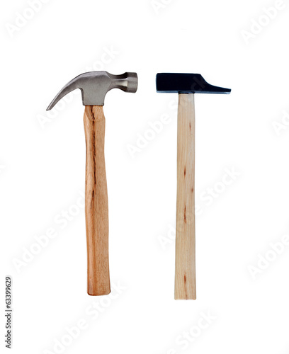 Two hammer metal and wood