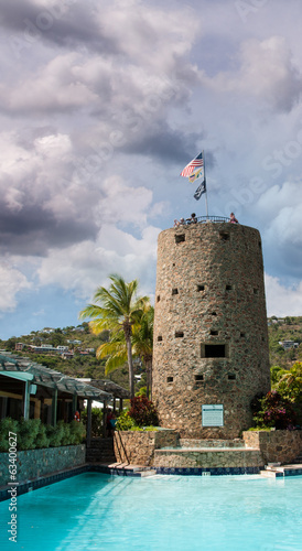 Tower of Blackbeard Castle in Saint Thomas, U.S. Virgin Islands