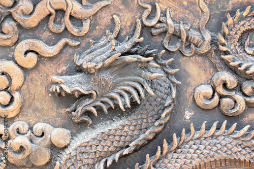 Brass carved dragon.