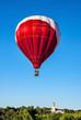Boise Idaho train depot and large hot air balloon