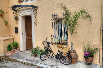 Bicycle outside House, France