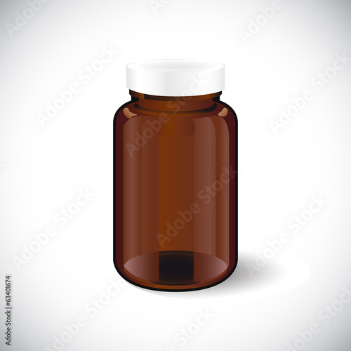 illustration of glass empty  bottle vector
