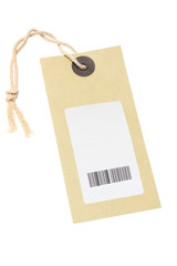 Paper Tag With Bar Code Sticker