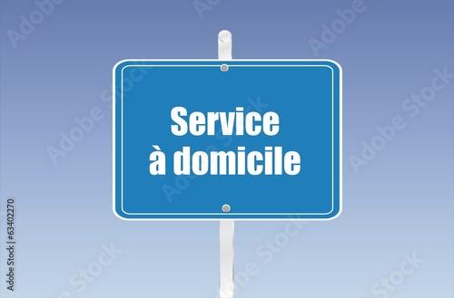 panneau service à domicile