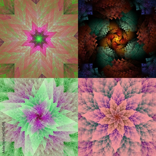 Collection of spiral fractals