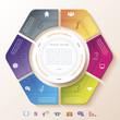 Abstract infographic design with circle and six segments