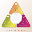 Abstract infographic design with circle and three segments