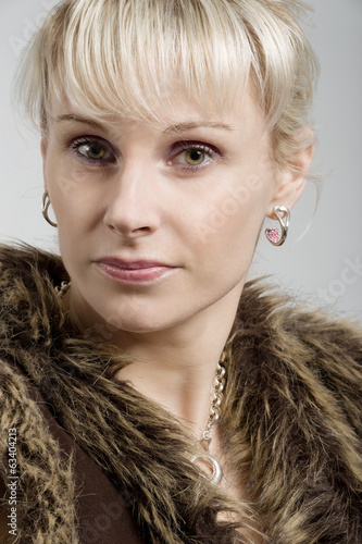 studio portrait of beautiful woman