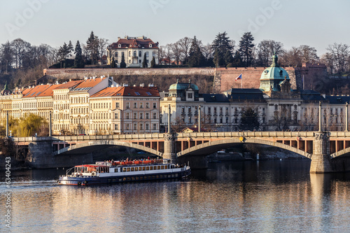 View to the Prague river Vltava