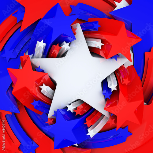 Red, white, and blue stars