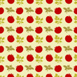 Seamless pattern with silhouettes tomato and parsley