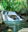 Deep forest waterfall at Huay Mae Khamin