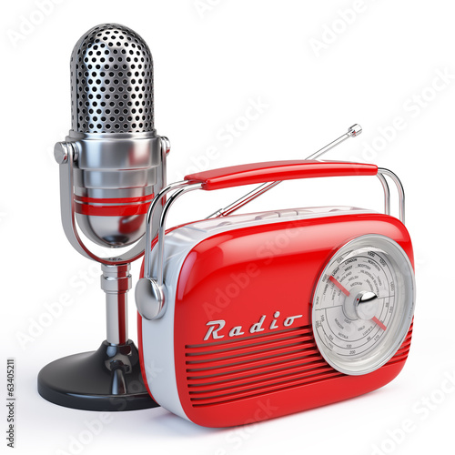 Microphone and retro radio