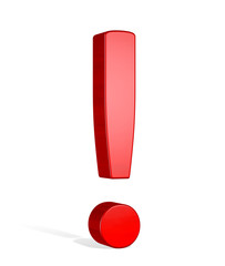 Red 3d exclamation mark