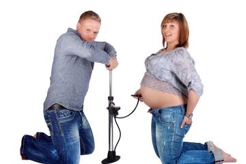 lustiges Schwangerschaftsfoto