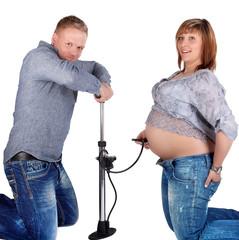 Babybauch wird aufgepumpt