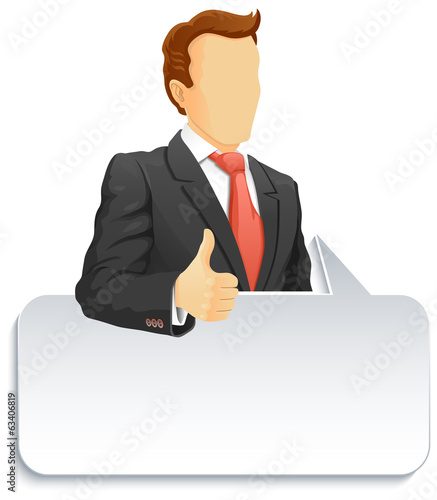 Businessman with speech bubble
