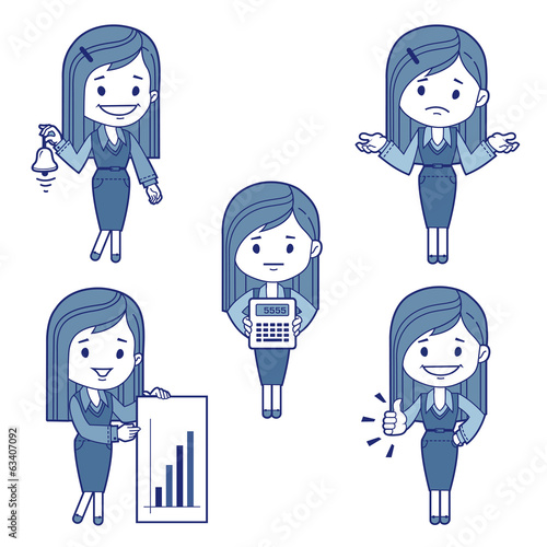 Five character business women