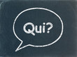 "Bulle ""QUI?"" sur Tableau (contact service clients questions faq)"