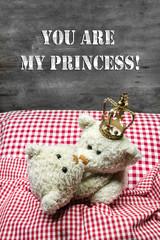 You are my princess - zwei Teddybären küssen sich