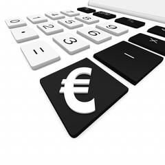 euro, taschenrechner,