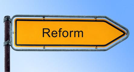Strassenschild 6 - Reform