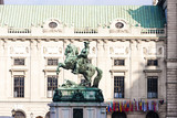 Statue of Prince Eugene of Savoy in front of Hofburg Palace, Vie