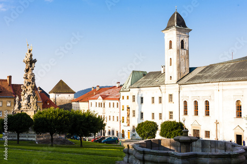 The Franciscan monastery and the plague column, Stefanik Square,