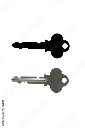 Keys and silhouette format isolated.