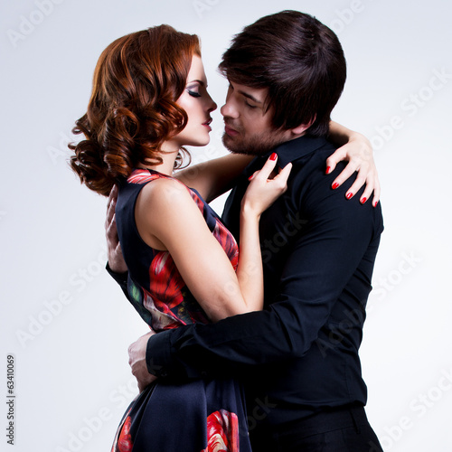 Beautiful sexy couple in love.