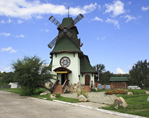 Old mill in Belokuriha resort. Altai. Russia.