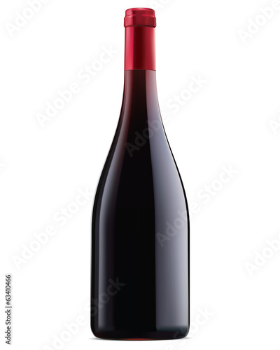 Burgundy red wine bottle. Vector illustration